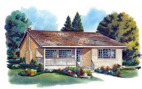 Ranch House Plan 58705 Elevation