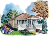Plan Number 58706 - 591 Square Feet