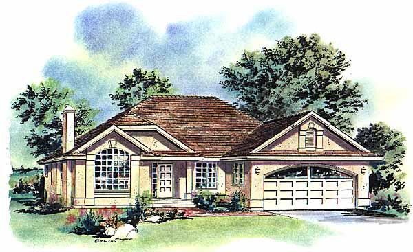 Florida House Plan 58708 Elevation