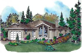 Contemporary House Plan 58709 Elevation