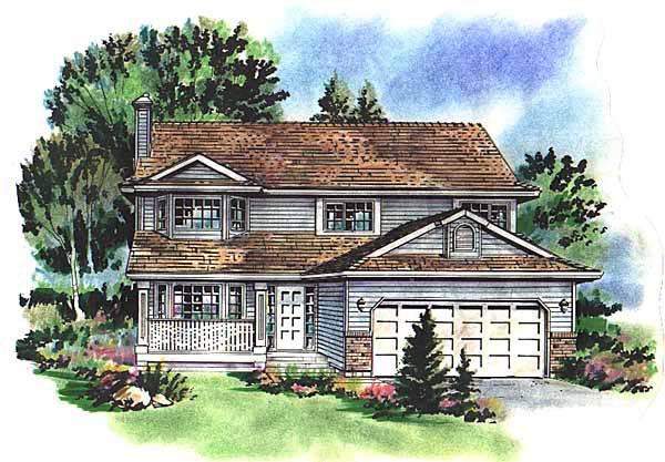 Country House Plan 58711 Elevation