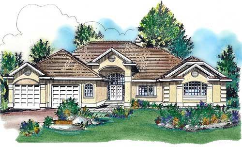 Mediterranean House Plan 58722 Elevation