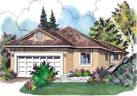 Florida House Plan 58723 Elevation