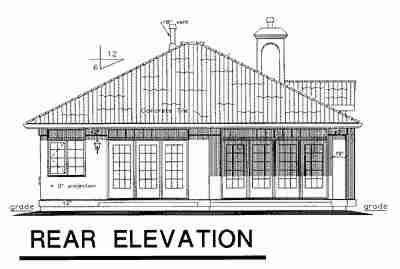 Florida House Plan 58723 Rear Elevation