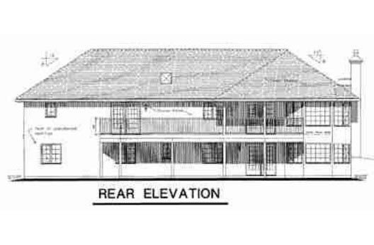 Ranch House Plan 58725 with 2 Beds, 2 Baths, 2 Car Garage Rear Elevation