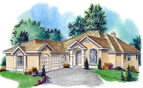 Mediterranean House Plan 58730 Elevation