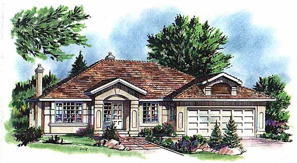 Mediterranean House Plan 58731 Elevation