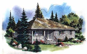 Contemporary House Plan 58733 Elevation