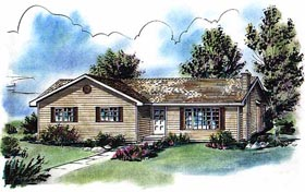 Ranch House Plan 58735 Elevation