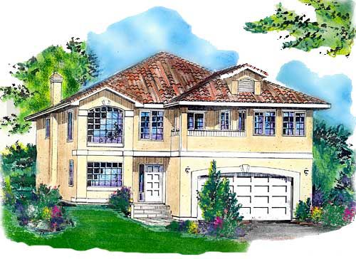 European House Plan 58736 Elevation