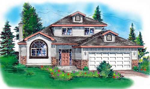 Ranch House Plan 58737 Elevation