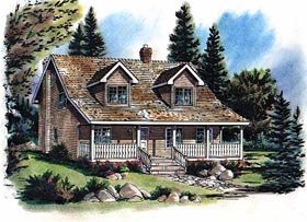 House Plan 58738 | Bungalow Style Plan with 1908 Sq Ft, 3 Bedrooms, 3 Bathrooms Elevation