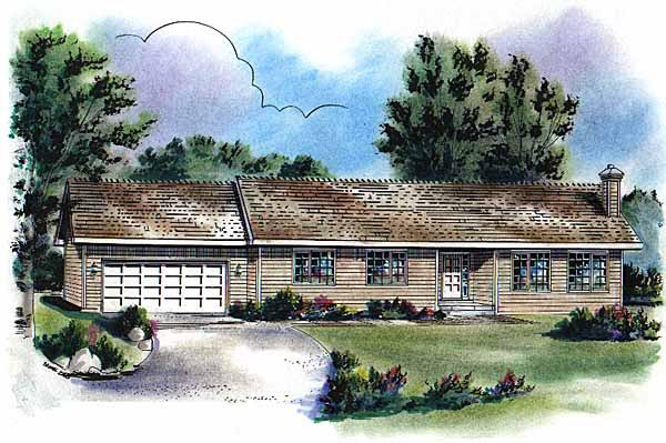Ranch House Plan 58739 Elevation