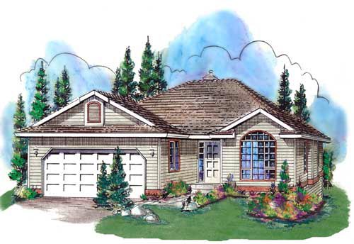 Ranch House Plan 58742 Elevation