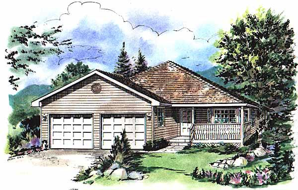 Ranch House Plan 58743 Elevation