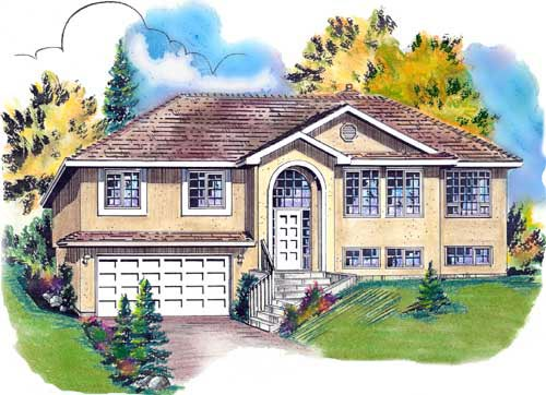European House Plan 58744 Elevation