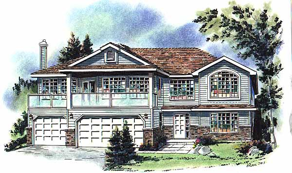 European House Plan 58750 Elevation
