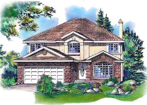 European House Plan 58751 Elevation