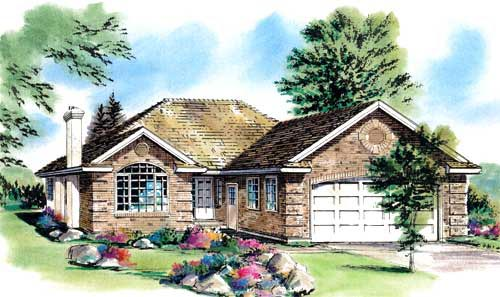 Ranch House Plan 58752 Elevation