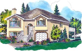 European House Plan 58753 Elevation