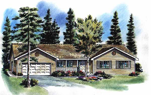Ranch House Plan 58754 Elevation