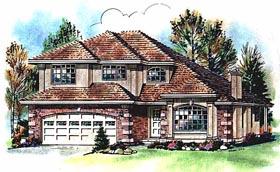 European House Plan 58758 Elevation