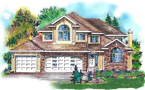 European House Plan 58760 Elevation