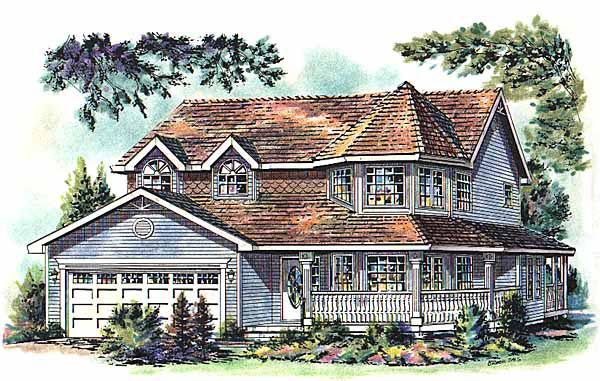 Victorian House Plan 58763 Elevation