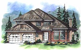 European House Plan 58765 Elevation