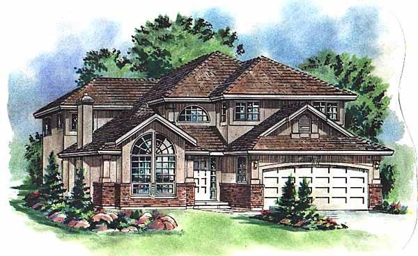 European House Plan 58768 Elevation