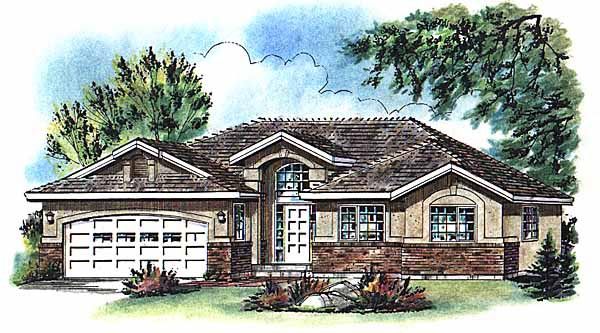 Ranch House Plan 58771 Elevation