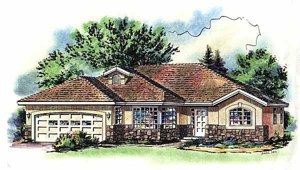 Ranch House Plan 58772 Elevation