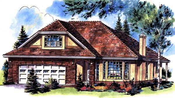 Ranch House Plan 58773 Elevation