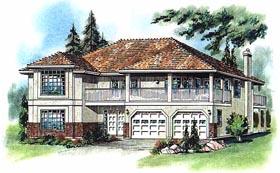 European House Plan 58774 Elevation