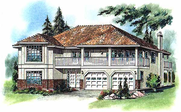 European House Plan 58774 Elevation
