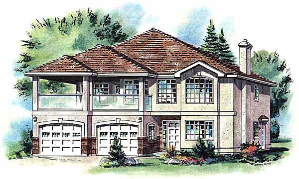 European House Plan 58775 Elevation