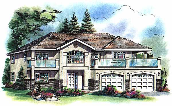 European House Plan 58776 Elevation
