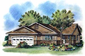 Ranch House Plan 58779 Elevation