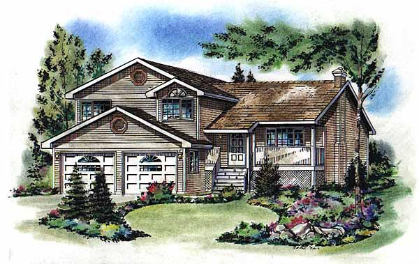 Traditional House Plan 58781 Elevation