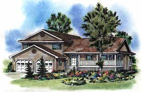 Country House Plan 58782 Elevation