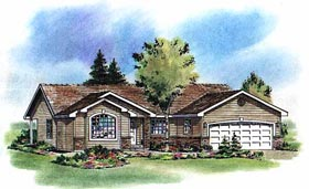 Ranch House Plan 58785 Elevation