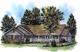 Ranch House Plan 58787 Elevation