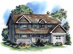 Country House Plan 58788 Elevation
