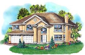 European House Plan 58789 Elevation