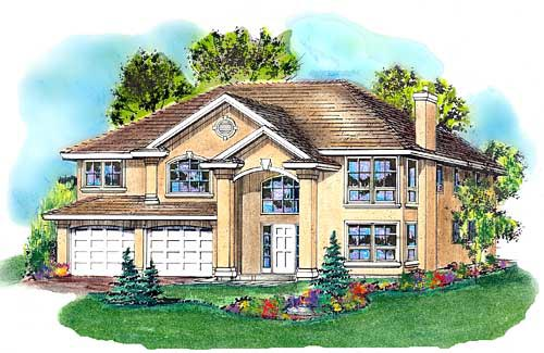European House Plan 58789 Elevation