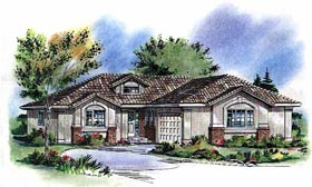 Florida House Plan 58790 Elevation
