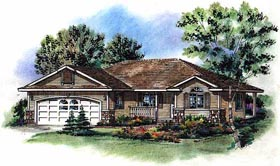 Ranch House Plan 58791 Elevation