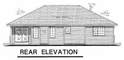 Ranch House Plan 58791 Rear Elevation