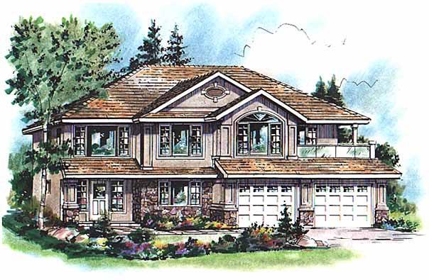 European House Plan 58792 Elevation