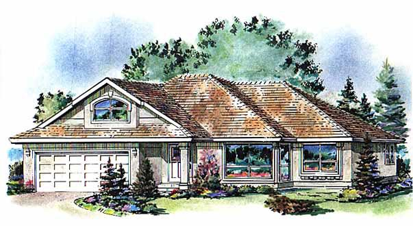 Contemporary House Plan 58798 Elevation
